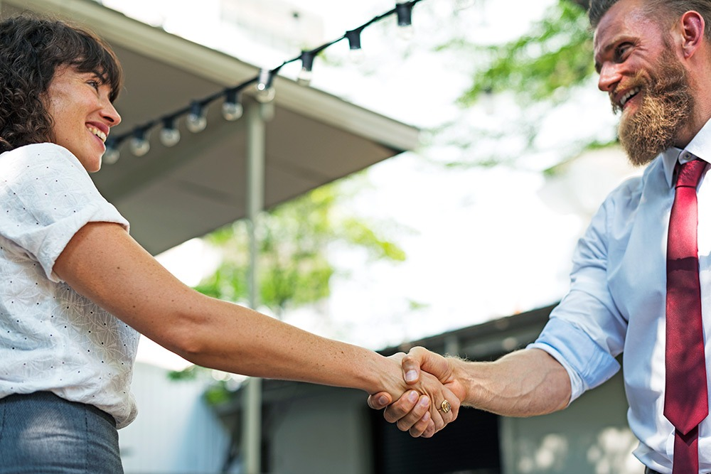 Practice your handshake with your mock interview partner to ensure yours is firm but not too tight.